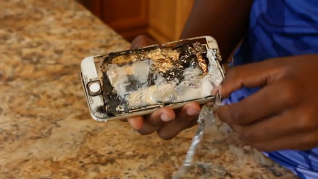 iPhone explodes in man's pocket, lights pants on fire