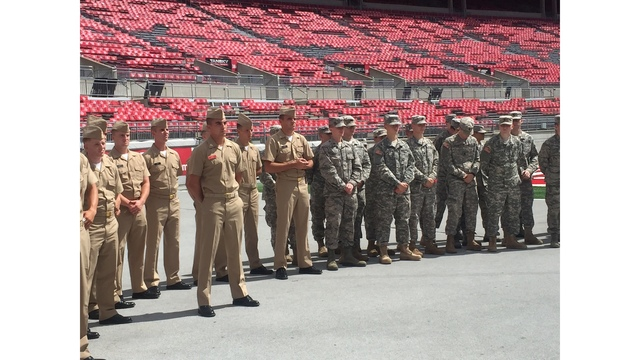 Ohio State Dedicates Chair At Ohio Stadium For POWs   WCMH