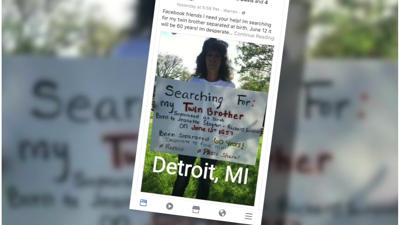 Michigan Woman Asks For Help Finding Long Lost Twin Brother