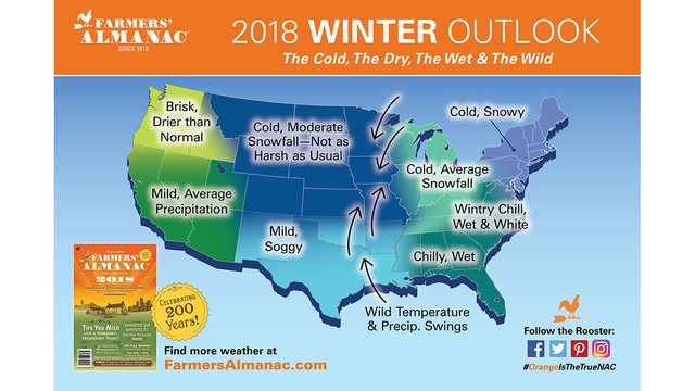 Farmers\' Almanac winter forecast is out, what to really expect