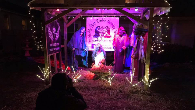 End of days comes for Ohio man's 'Zombie Nativity'