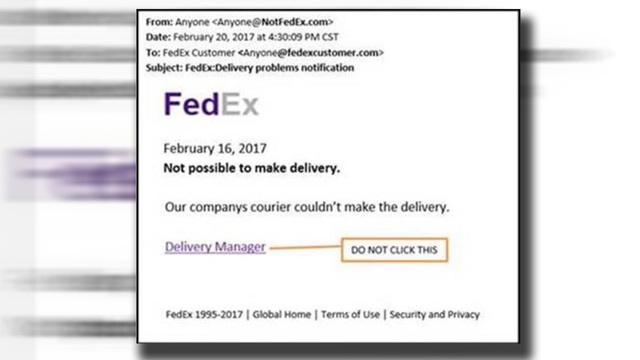 FedEx warns of phony email alerts