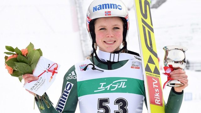 Norway's Maren Lundby wins World Cup ski jumping event in Japan