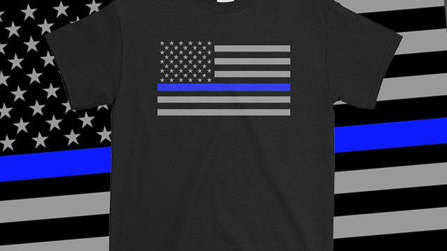 Traxler Printing giving out free Thin Blue Line shirts, stickers this week to honor fallen Westerville officers