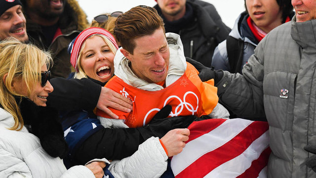 Shaun White celebrates more than gold after mulling retirement