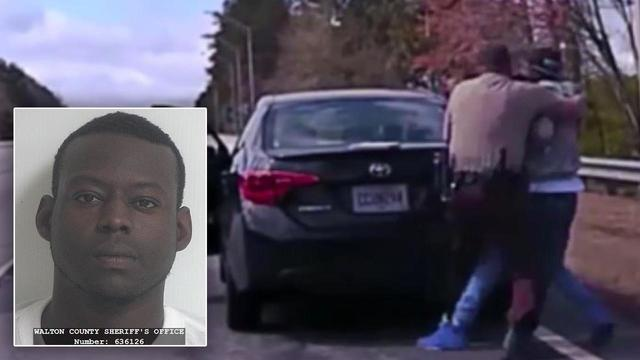 Suspect Wrestles His Way Out of Arrest in Dramatic Dashcam Footage