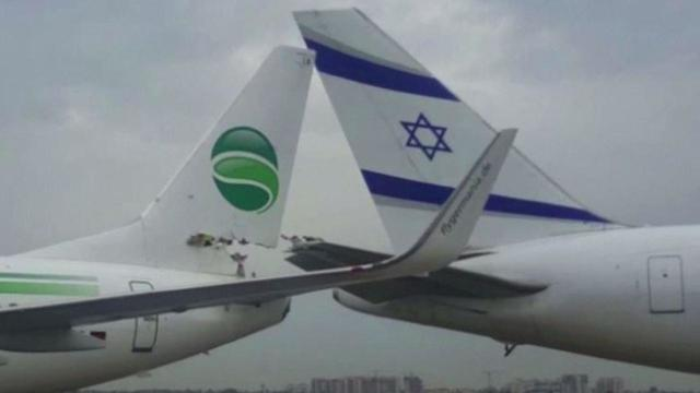 Planes Captured on Video After Collision at Israeli Airport