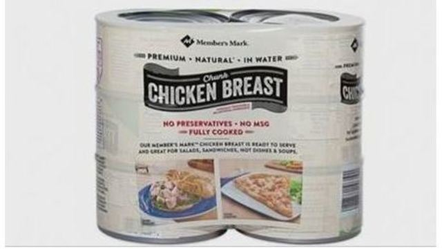Sam's Club recalls canned chicken due to safety concerns