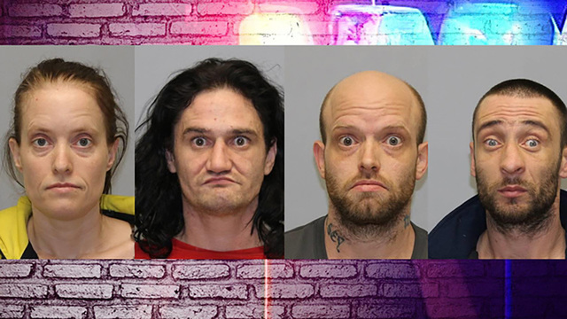 Four arrested for making meth after medical call to home