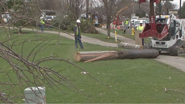 Power almost completely restored in Grove City