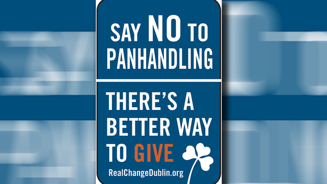 Dublin to install 'Say NO to panhandling signs'
