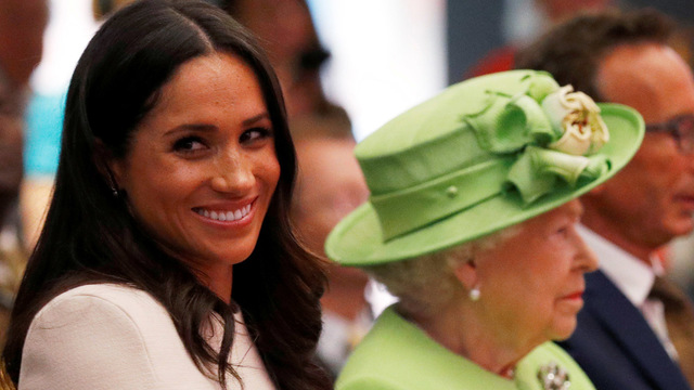 The queen and Duchess Meghan make 1st joint appearance