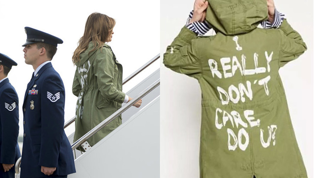First lady wears 'I really don't care' jacket ahead of visit with migrant children
