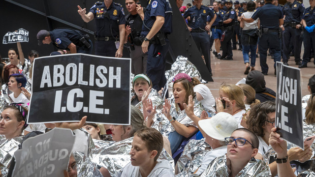 Capitol Police arrest about 575 people protesting Trump immigration policy at Senate building