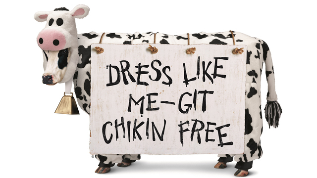 Dress like a cow and get free Chick-Fil-A Tuesday