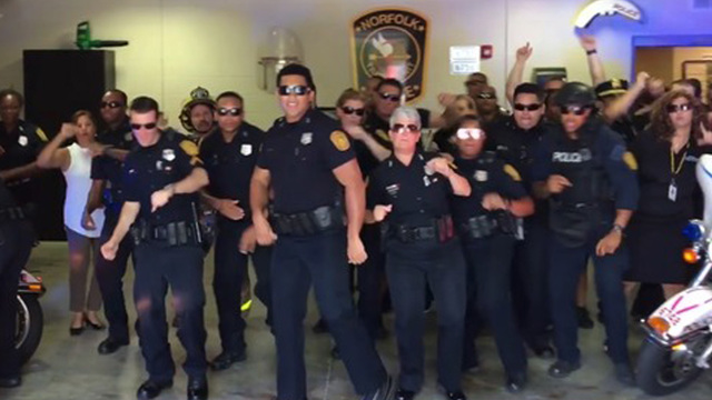 Norfolk PD responds to Texas force's viral lip sync battle with epic 'Uptown Funk' rendition