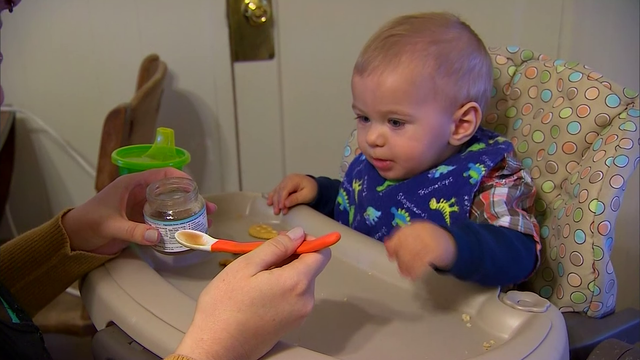 Study: Babies sleep better after eating solid food