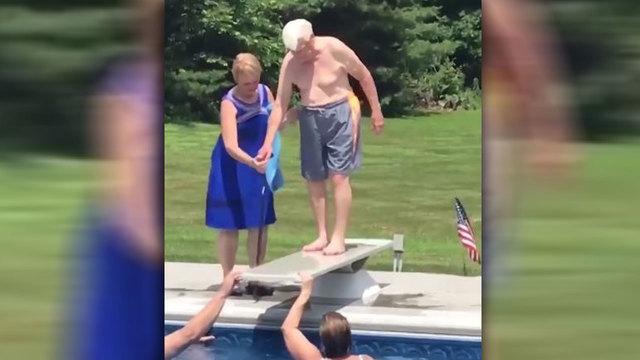 WATCH: Veteran, 95, teaches young boy how to overcome his fear