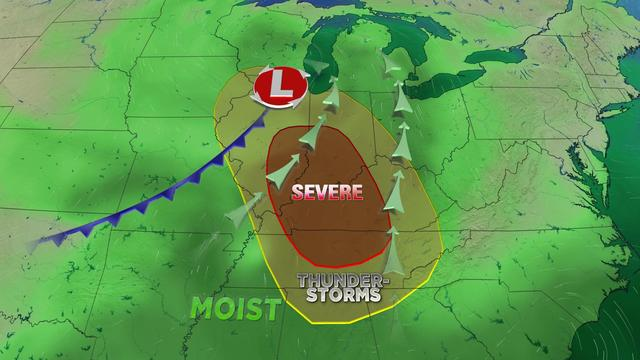 Rain, storms, and some strong to severe storms possible Friday
