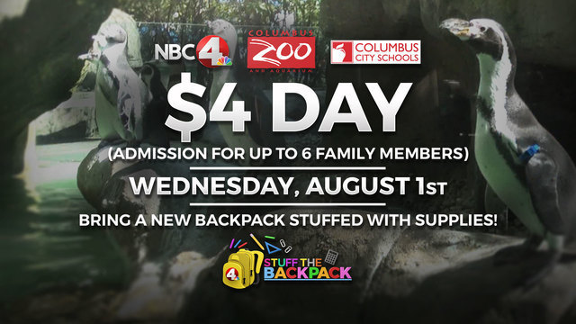 Stuff a backpack and get your family into the Columbus Zoo for $4