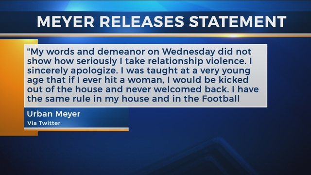 urban meyer apologizes for words and demeanor during press conference