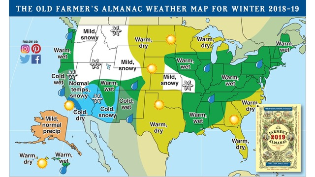 Weather Map Of New Mexico.Farmer S Almanac Predicts Biting Cold Snowy Winter