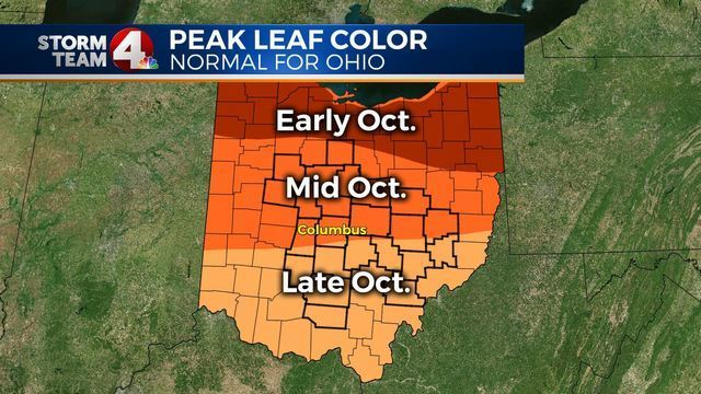here are the peak days for leaf peeping in ohio