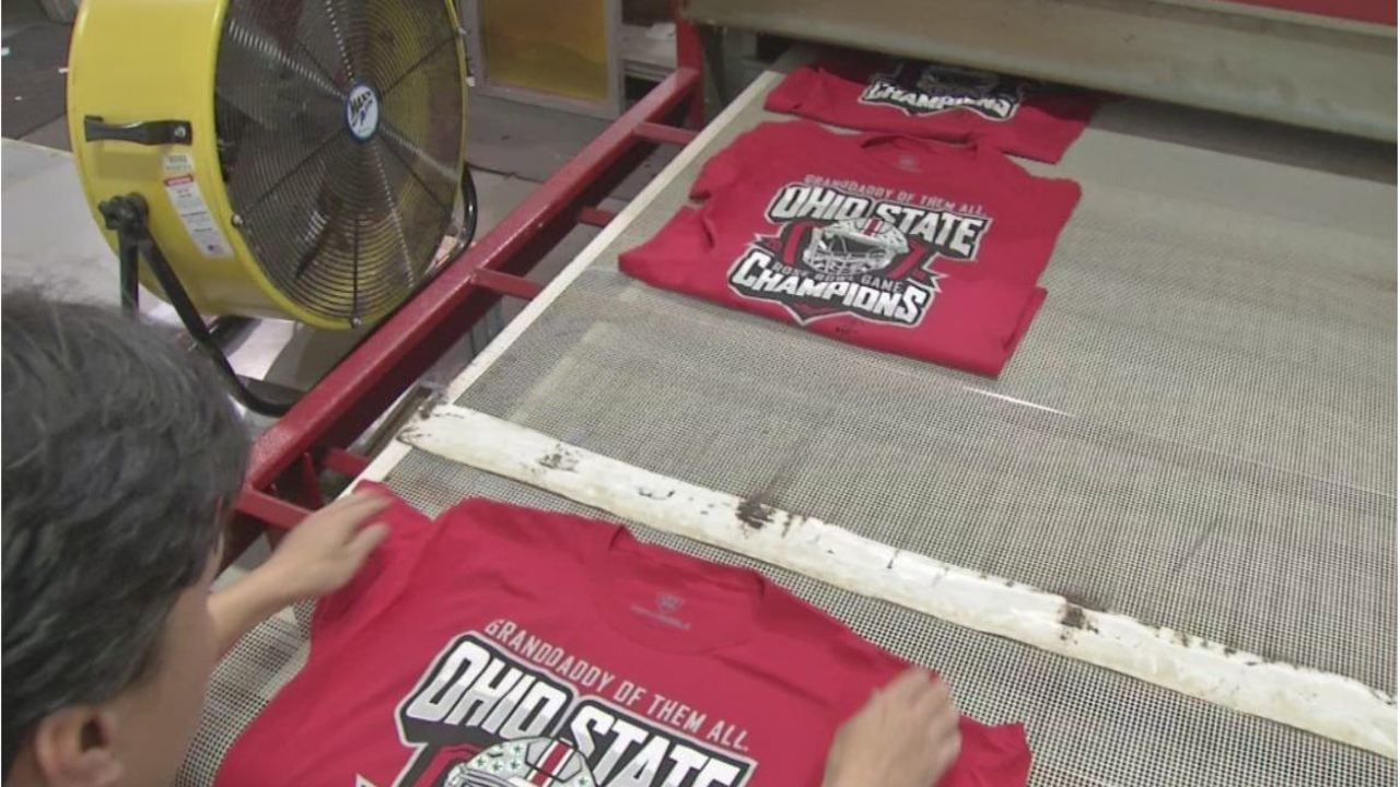 60614eb458 Local printing company gets to work on Rose Bowl t-shirts