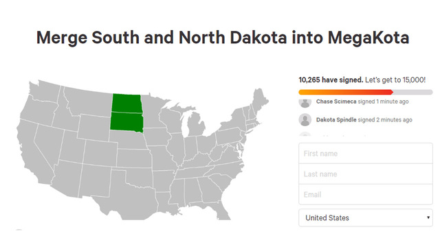 More than 10k people sign petition to merge North and South Dakota into one 'MegaKota'