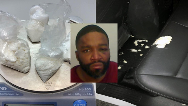 Sheriff: Man chews up seat of police car after cocaine arrest