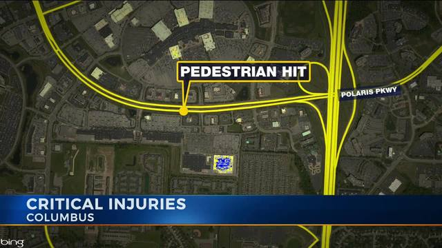 Pedestrian struck on Polaris Parkway in critical condition